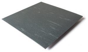 Standard transit flooring in DS marbled dark gray, smooth