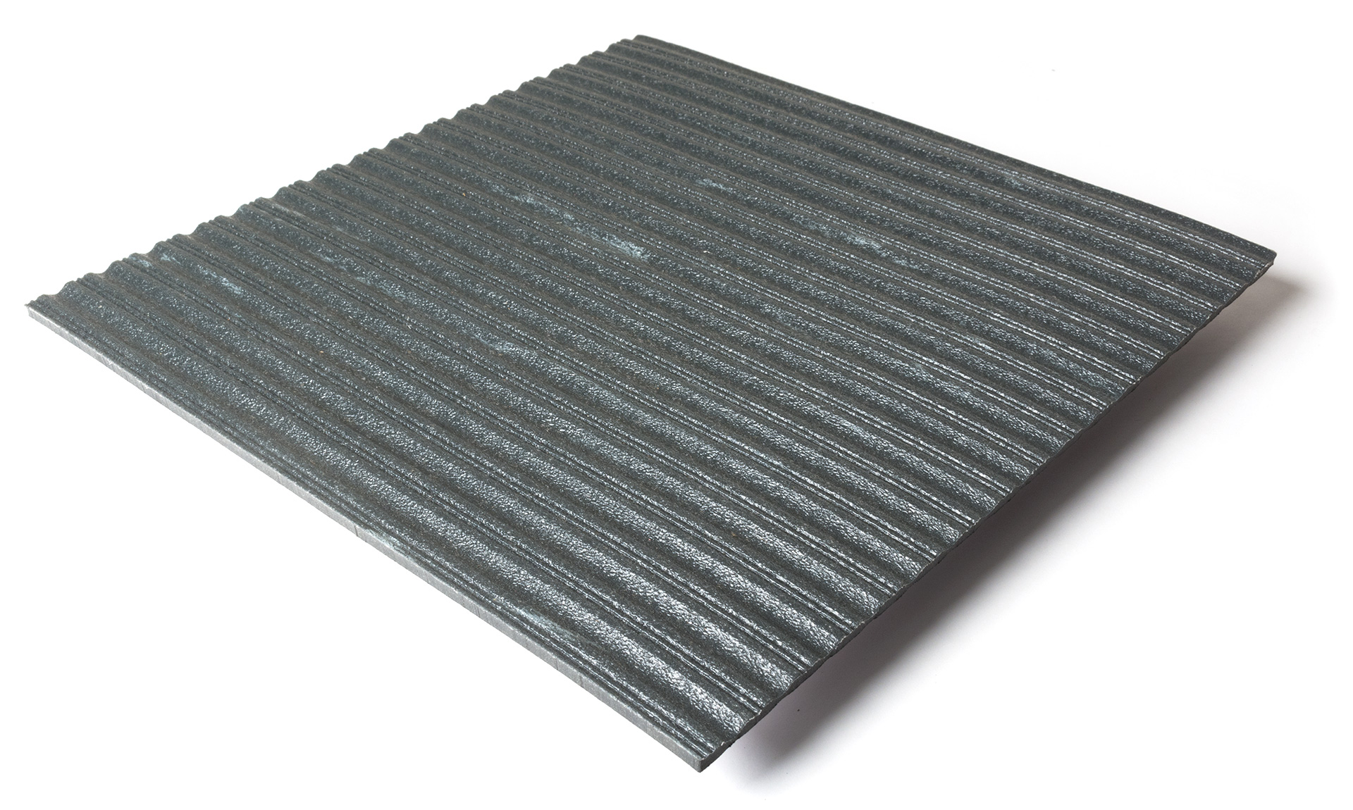 Standard transit flooring in DS marbled dark gray, ribbed