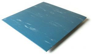 Standard transit flooring in marbled blue, smooth