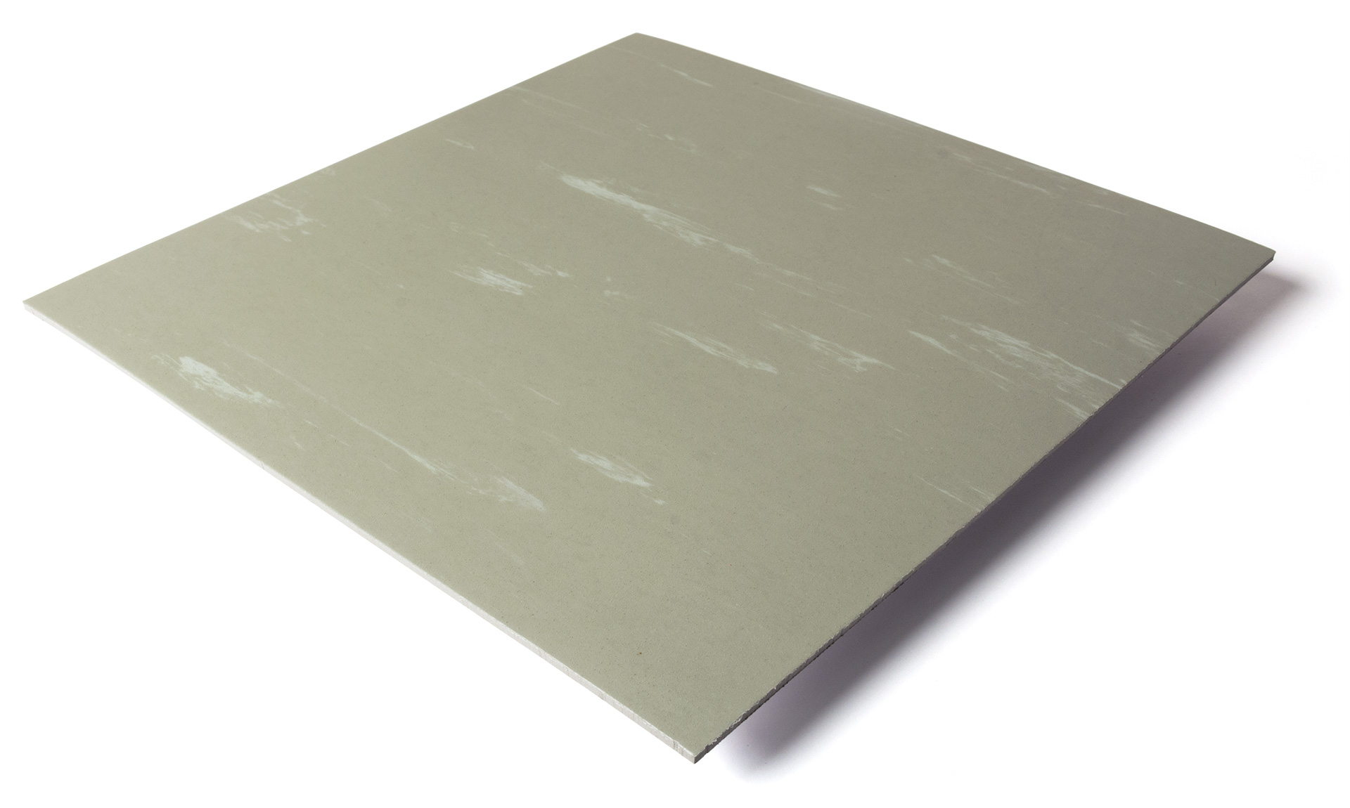 Standard transit flooring in marbled light gray, smooth