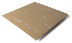 Standard transit flooring in marbled tan, smooth