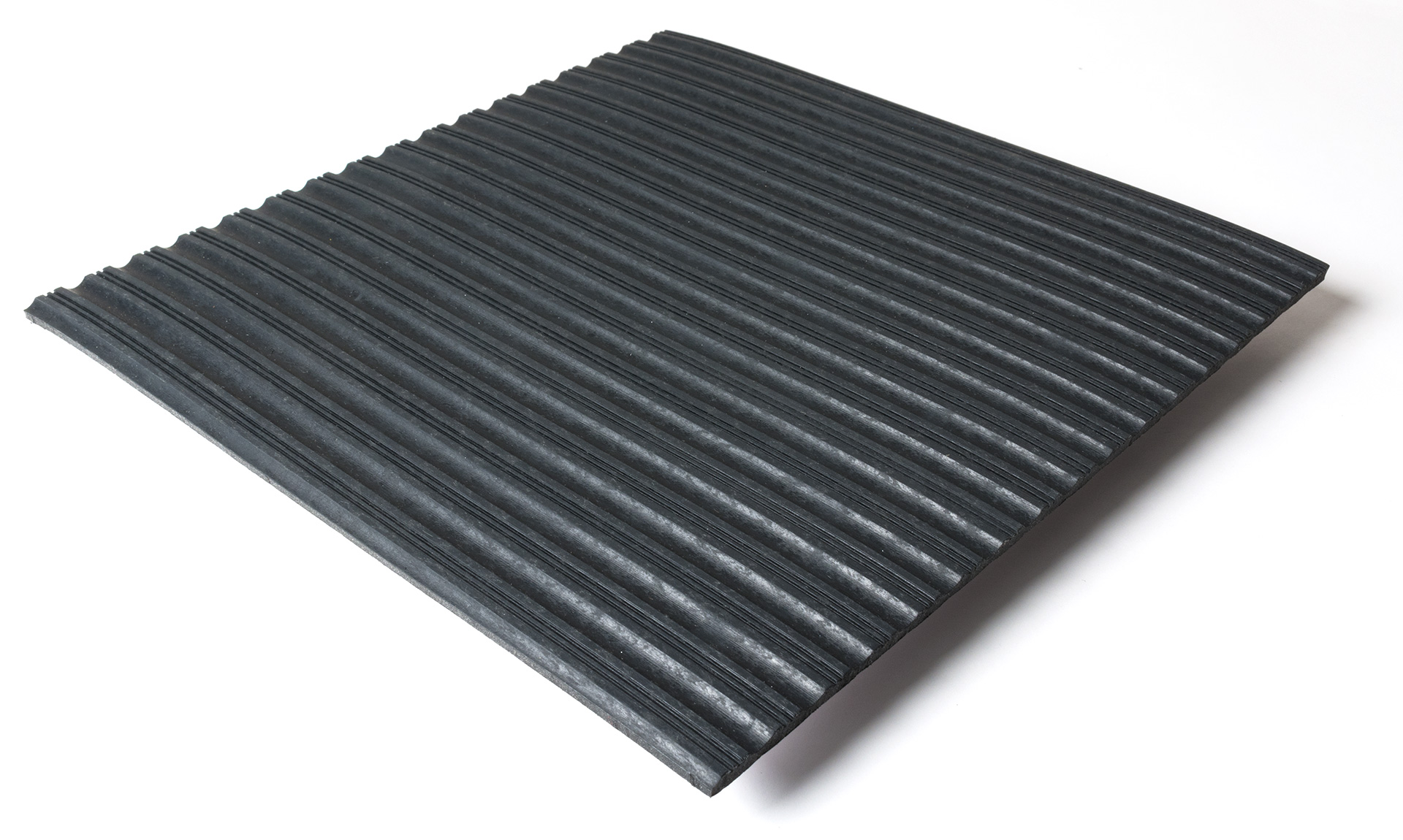 Standard transit flooring in black, ribbed