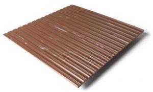 Standard transit flooring in marbled mahogany, ribbed