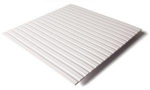 Standard transit flooring in white, ribbed